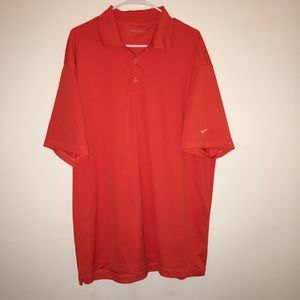 Nike orange  golf shirt